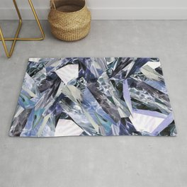Ice Blue Crystalize Rug