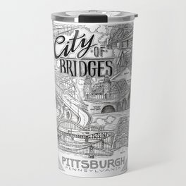 City of Bridges Poster, Pittsburgh Bridges Wall Art, Pittsburgh Bridges Poster Travel Mug