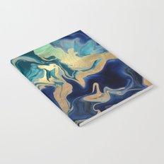 DRAMAQUEEN - GOLD INDIGO MARBLE Notebook