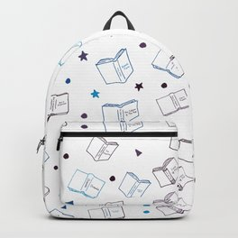 Classic Books Dark Blues & Purples Backpack