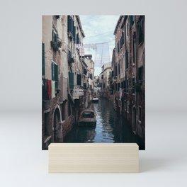 Cosy life, city scene in the Venice canals Mini Art Print