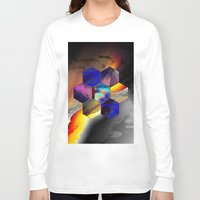hexagon Long Sleeve T-shirts featuring hexagon II by donphil