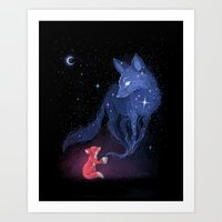 celestial Art Prints featuring Celestial by Freeminds