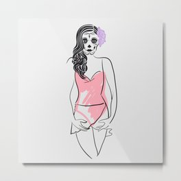 Dead Beauty Metal Print