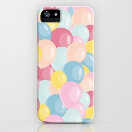 Happy birthday party balloons iPhone Case