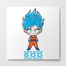 Goku SSGSS Metal Print