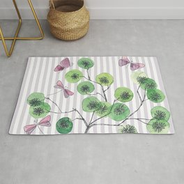 a touch of summer  with stripes Rug