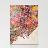 toronto Stationery Cards featuring Toronto by MapMapMaps.Watercolors