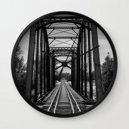 Railroad Bridge Wall Clock