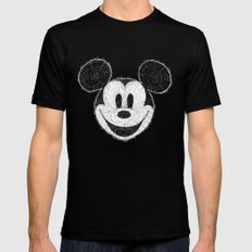 wooden Mickey Mouse Mens Fitted Tee Black X-LARGE