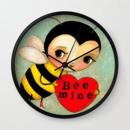 BEE MINE Cute bumble bee in love  Wall Clock
