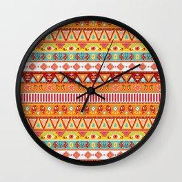 Boho Pattern 3 Wall Clock