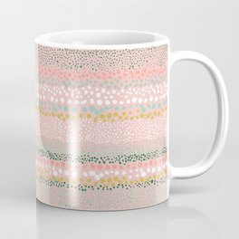 Little Textured Dots Pink Coffee Mug