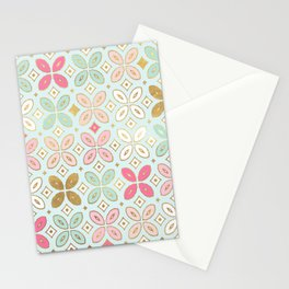 MORROCCAN TILE - ALEXA SPRING MINT Stationery Cards
