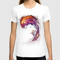 surfing T-shirts featuring Space Surfing by nicebleed