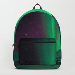 Northern Light Aurora Borealis in Norway Backpack