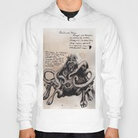 lovecraft Hoodies featuring Lovecraft Series:  Dunwich Horror by Furry Turtle Creations