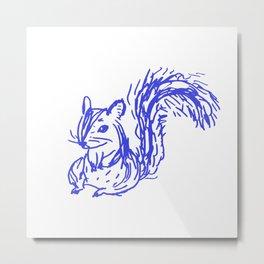 bluepen drawing - D Metal Print