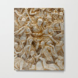 Marble Battle Metal Print