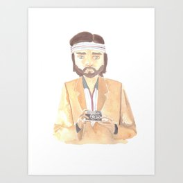 Richie Tenenbaum Watercolor Art Print