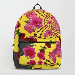 modern art cerise pink & yellow Backpack