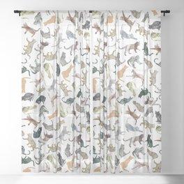 Nature Cats Sheer Curtain