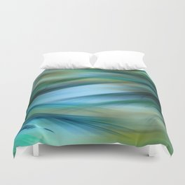 Soft Feathered Lights Abstract Duvet Cover