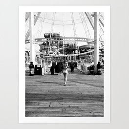 Lisa on the Boardwalk Art Print