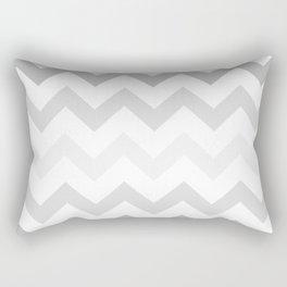 Gradient Grey Chevron on White Rectangular Pillow