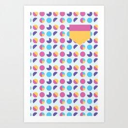 geometric bubblegum Art Print