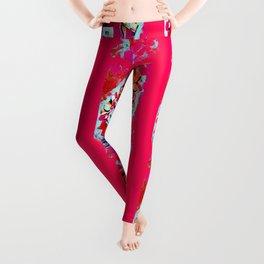 No 5 Pink Colored Leggings
