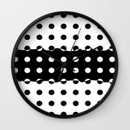 Black and White and Black and Wall Clock