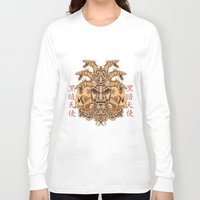 oriental Long Sleeve T-shirts featuring Oriental Mask by Tshirt-Factory