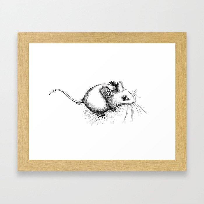 City Mouse Framed Art Print