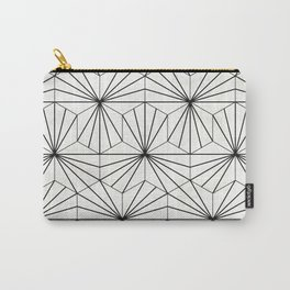 Hexagonal Pattern - White Concrete Carry-All Pouch