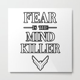 Fear is the Mind Killer Dune 2020 Quote Metal Print