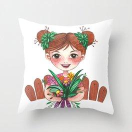 Gardening Throw Pillow