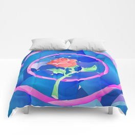enchanted rose Comforters
