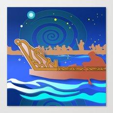 Maori Canoes : Waka Canvas Print