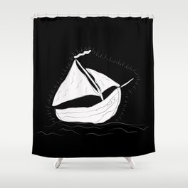 Max's Sailboat Shower Curtain