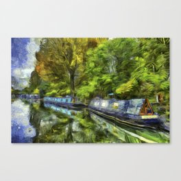 Little Venice London Art Canvas Print