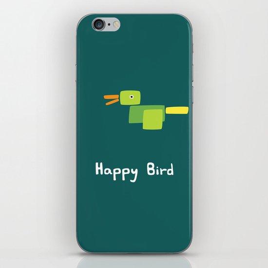 Happy Bird-Green iPhone & iPod Skin