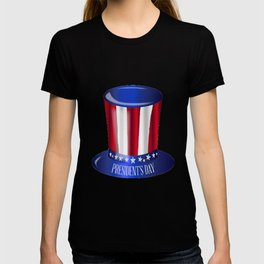 Presidents Day Uncle Sam Flag Hat T-shirt