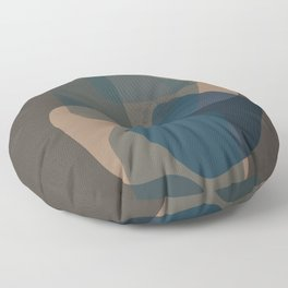 Clay Shapes 22 Blue-Green Floor Pillow
