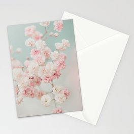 Gypsophila pink blush ll Stationery Cards