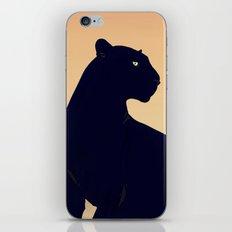 Sunset Black Panther iPhone Skin