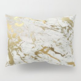 Gold marble Pillow Sham