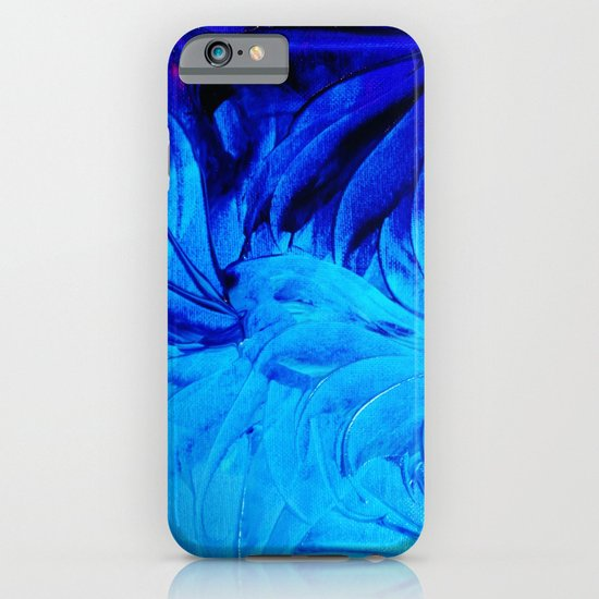 PETAL PINWHEELS - Deep Indigo Blue Royal Blue Turquoise Floral Pattern Swirls Ocean Water Flowers iPhone & iPod Case