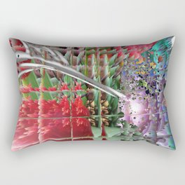 Glitchflowers 2.9 Rectangular Pillow