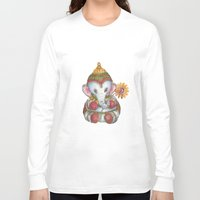 ganesh Long Sleeve T-shirts featuring Ganesh by coconuttowers